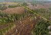 """Virkistysmetsää Keihäsjärvellä. Keltaisen viivan sisäpuoli on """"erityisalue, jolla huomioidaan retkeily ja ulkoilu""""."""